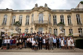 Les lauréats du Prix Audace à Matignon, le 29 juin 2018