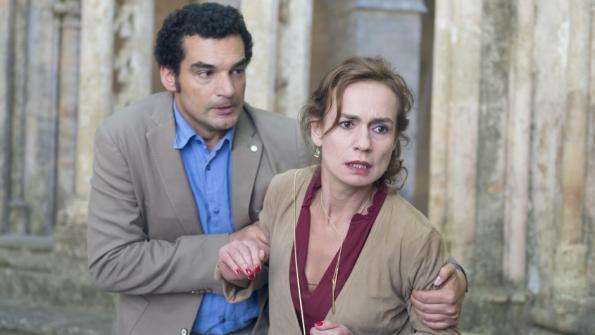 Julien Masdoua et Sandrine Bonnaire dans Bébés volés