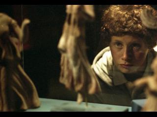 Un petit garçon se regarde dans un miroir