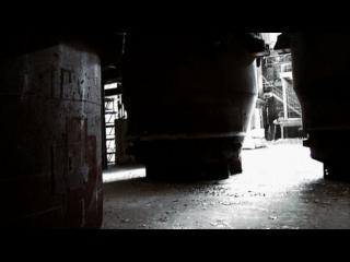 Intérieur d'une usine en ruine